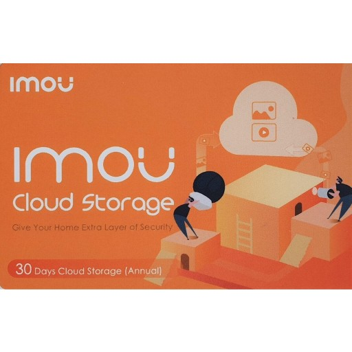 IMOU - 1 Year Prepaid Cloud Storage - 30 Days recording - Voucher
