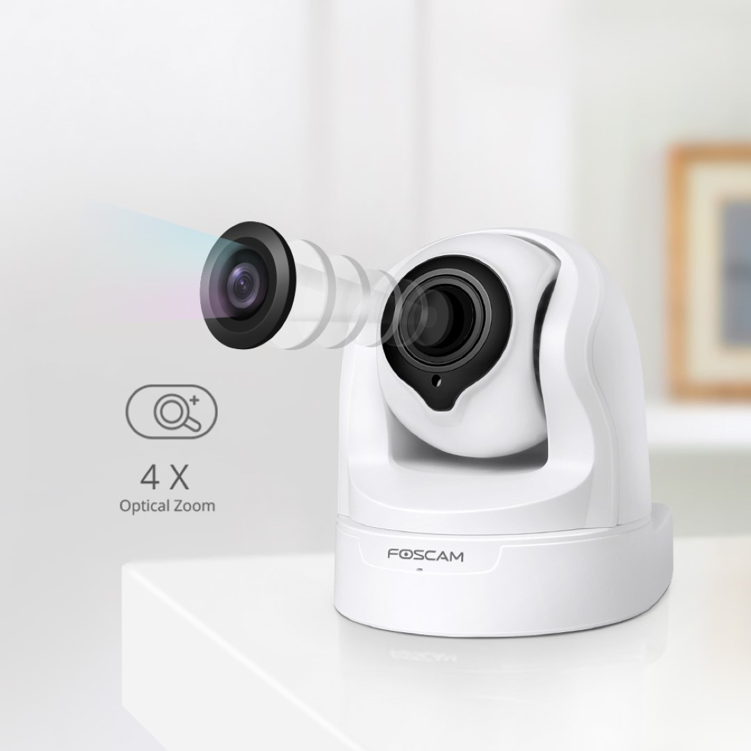 Foscam FI9936P white HD PTZ Plug&Play indoor camera + SD record