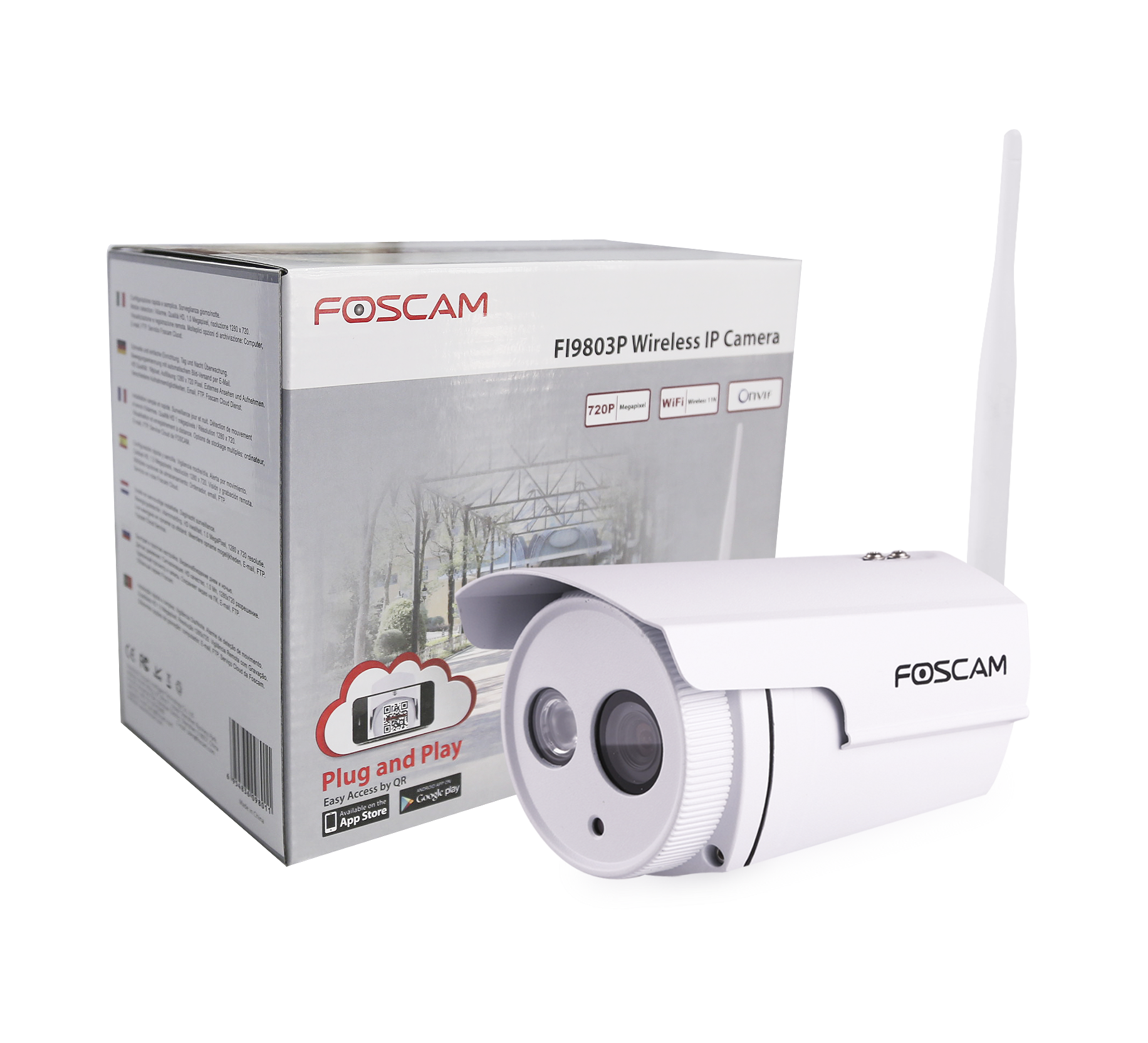 foscam fi9803p white the specialist in ip security cameras. Black Bedroom Furniture Sets. Home Design Ideas