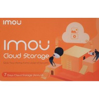 IMOU by Dahua - 1 Year Prepaid Cloud Storage - 7 Days recording - Voucher