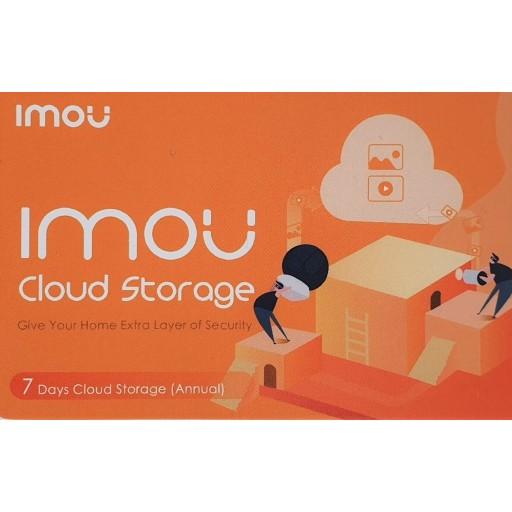 IMOU by Dahua - 1 jaar Prepaid Cloud Opslag - 7 Dagen opnemen - Voucher