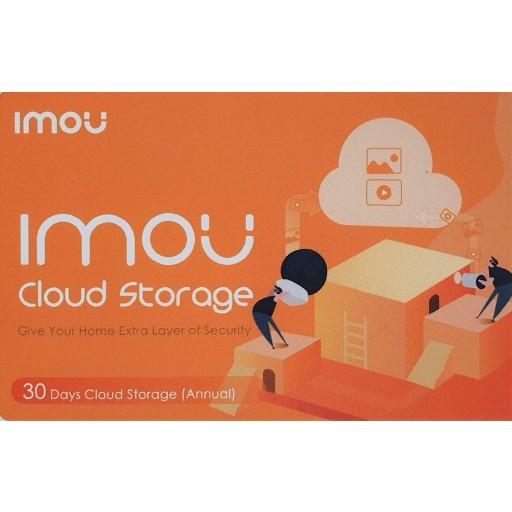 IMOU by Dahua - 1 jaar Prepaid Cloud Opslag - 30 Dagen opnemen - Voucher