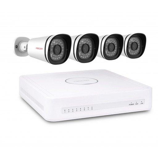 Foscam NVR Kit FN3108XE-B4-1T - 8 kanaals NVR Kit 4x 720P IP Camera 1TB HDD Plug & Play