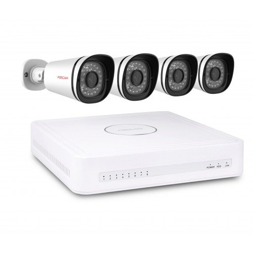 Foscam NVR Kit FN7108E-B4-2T - 8 kanaals NVR Kit 4x 1080P IP-Camera 2TB HDD Plug & Play