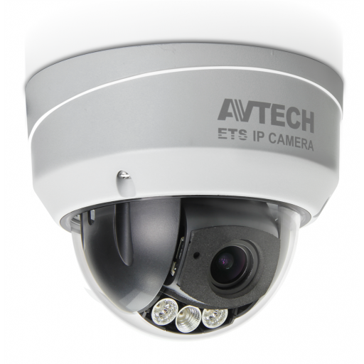 AVTECH AVM543, Indoor-Outdoor Dome, 2MP, POE, SD, WDR, gemotoriseerde 2.8/12mm lens