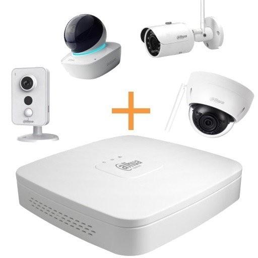 Maak een bundel - Dahua DH-NVR4108-4KS2 (8 kanalen) - Dahua WiFi camera's - 10% bundel korting