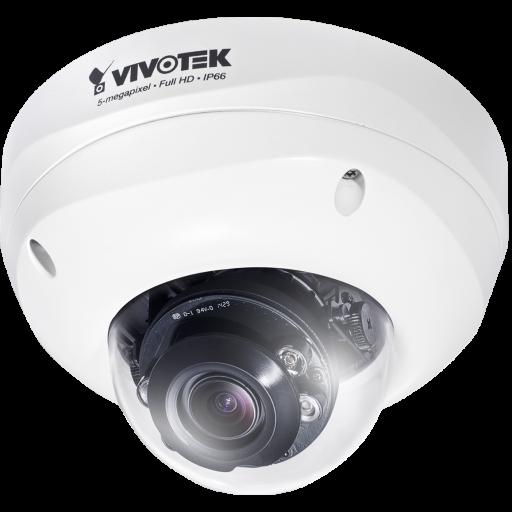 Vivotek FD8381-EV - Fixed Dome Camera - 5MP - 25fps - 30M IR - Smart Focus Systeem - IP66 - IK10 - Extreme Weather Support met PoE - Smart Stream
