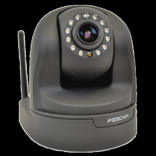 Foscam FI9826P zwart WiFi HD PTZ Plug&Play indoor camera + SD-opname