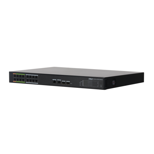 Dahua 16 Port ePoE Switch, DH-LR2218-16ET-240 - 16x PoE (8x ePoE) - 240W