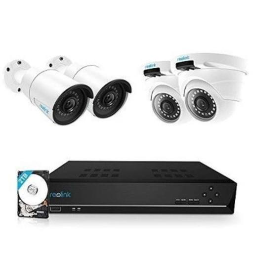 Maak een bundel: Reolink 8 of 16 kanaals PoE NVR met camera's (Wifi en / of PoE) - 5% Bundel korting
