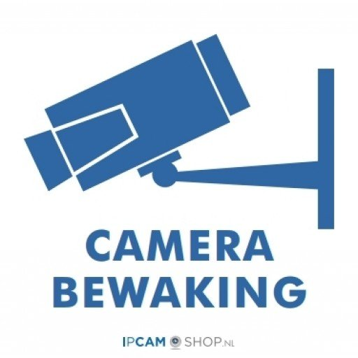 Gratis sticker camera bewaking *max 1 per klant