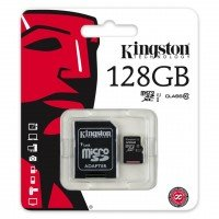 Kingston MicroSD met adapter 128GB (Class 10)