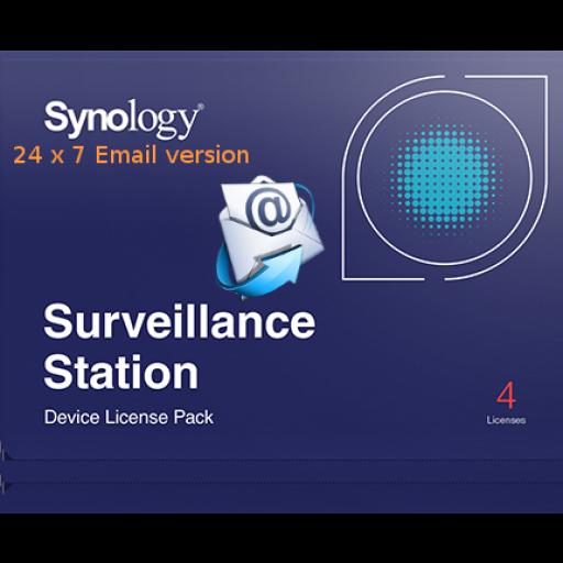 Synology Camera License, 4 cameras - 24/7 directly sent per E-mail