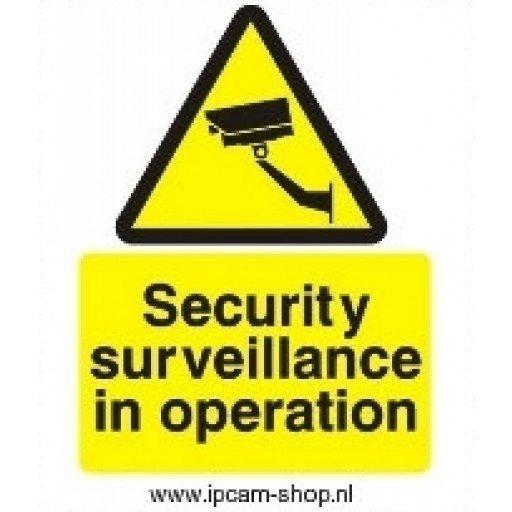 Sticker video surveillance